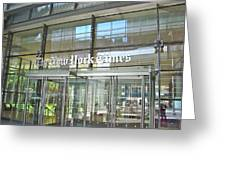 New York Times Reflection Greeting Card