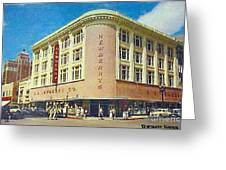 Newberry's Department Store In El Paso Tx In The 1950's Greeting Card