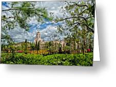 Newport Beach Temple Pine Greeting Card