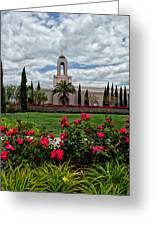 Newport Beach Temple Roses Greeting Card