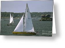 Newport Sailing Greeting Card