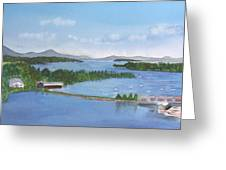 Newport Vermont Aerial Greeting Card