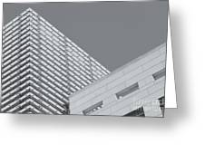 Newseum Contrasting Facades II Greeting Card