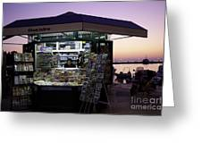 Newsstand In Croatia Greeting Card
