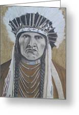 Nez Perce American Native Indian Greeting Card by David Hawkes