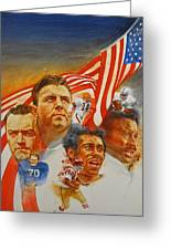 Nfl Hall Of Fame 1984 Game Day Cover Greeting Card