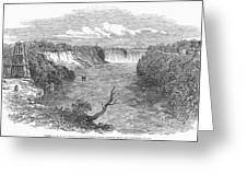 Niagara Falls, 1849 Greeting Card