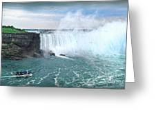 Niagara Falls And The Bubbles Greeting Card