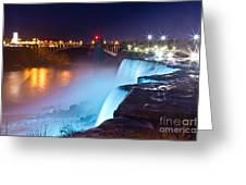 Niagara Falls At Night 2 Greeting Card