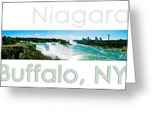 Niagara Falls Day Panorama Greeting Card