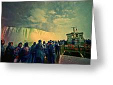 Niagara Falls From The Deck Maid Of The Mist Greeting Card