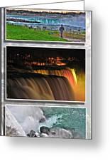 Niagara Falls Usa Triptych Series Greeting Card