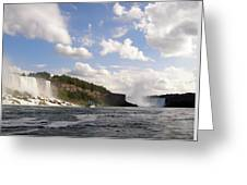 Niagara Falls View From The Maid Of The Mist Greeting Card