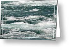 Niagara River Rapids 2 Greeting Card