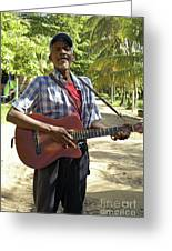Nicaraguan Musician Big Corn Island Nicaragua Greeting Card