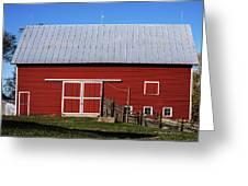 Nice Red Barn Greeting Card