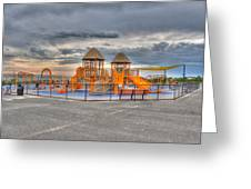 Nickerson Beach Play Area Greeting Card
