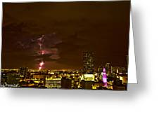 Night Action I Greeting Card