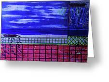 Night At Serene Patio Greeting Card