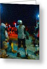 Night At The Roller Derby Greeting Card