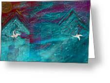 Night Birds Greeting Card