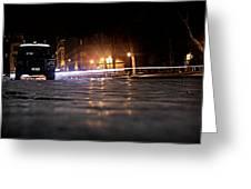 Night Cops Greeting Card