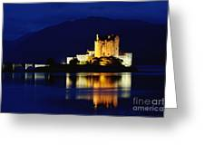 Night Falls On Eilean Donan Castle - D002114 Greeting Card