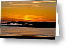 Night Glow Greeting Card by Gary Finnigan