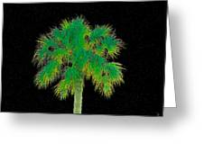 Night Of The Green Palm Greeting Card