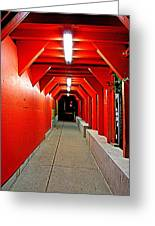 Night Tunnel Greeting Card
