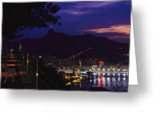 Night View Of Rio De Janeiro From An Greeting Card
