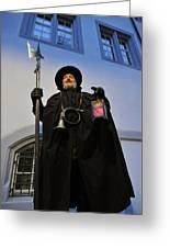 Night Watchman Greeting Card by Matthias Hauser