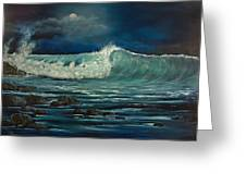 Night Wave Greeting Card