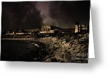 Nightfall Over Hard Time - San Quentin California State Prison - 5d18454 - Partial Sepia Greeting Card
