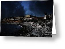 Nightfall Over Hard Time - San Quentin California State Prison - 5d18454 Greeting Card by Wingsdomain Art and Photography
