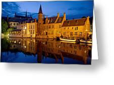 Nighttime Brugge Greeting Card