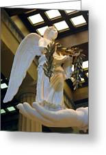 Nike Goddess Of Victory Greeting Card by Linda Phelps