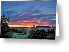 Nisqually Valley Sunrise Greeting Card