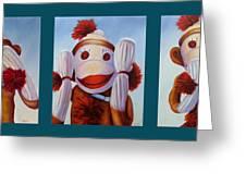 No Bad Stuff Triptych Greeting Card