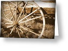 No Gas Needed Buggy Wheels Greeting Card