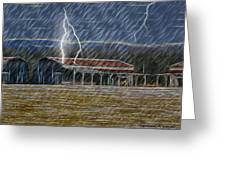 No Matter The Weather-work Goes On Greeting Card