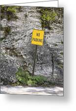 No Parking Greeting Card