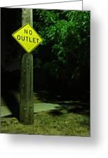 No Way Out Greeting Card