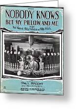Nobody Knows But My Pillow And Me Greeting Card