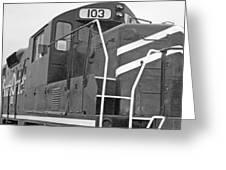 Noir Et Blanc Engine 103 Greeting Card