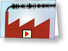 Noise Pollution, Conceptual Image Greeting Card