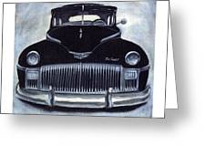 Norma Jean's 1948 De Soto Greeting Card by Andrea Camp