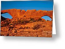 North And South Windows Greeting Card