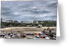 North Beach From Tenby Harbour Greeting Card