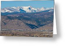 North Boulder Colorado Front Range View Greeting Card